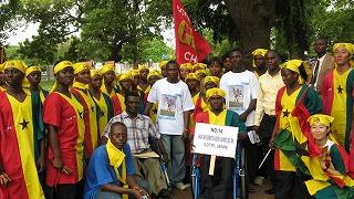 ガーナよさこい祭りで踊った障害者たち