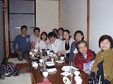 私の還暦の祝いに集まってくれた仕事の仲間たち