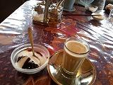 チャイとコーヒーゼリーのデザートセット