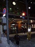 小樽駅前の私