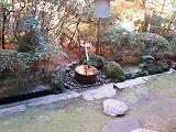 石庭の裏にある我田引水の写真