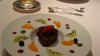 ハートのチョコレートゲーキ