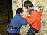 登り始める前に小林さんから説明を受けているところ
